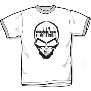 NASTY (T-Shirts)/White-Black
